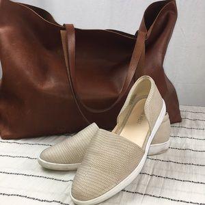 Nine West Leather Slip On Sneaker